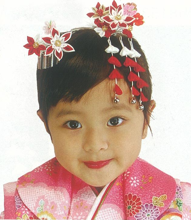 子ども向け髪飾りモデル